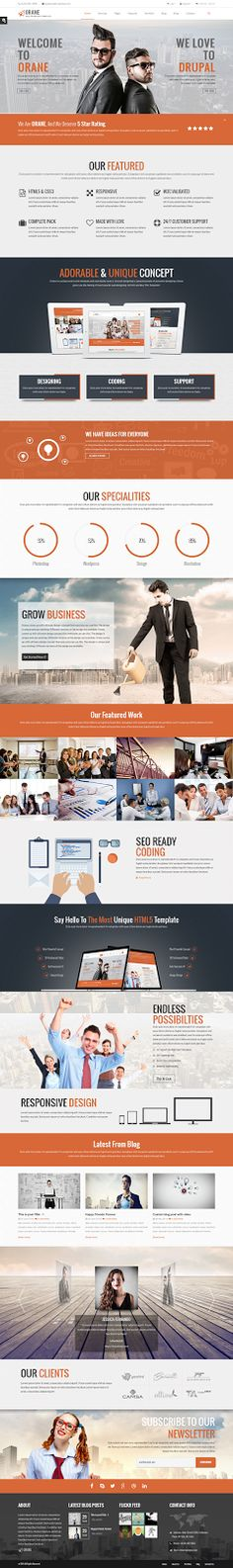 Orane is a multipurpose #Drupal theme for all kinds of business such as #creative or digital agency, photo studio, small business, large business or #freelancers.