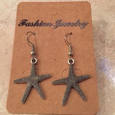 Earrings Silver plated starfish fashion jewelry earrings. Hangs 1.5 inches from top to bottom Jewelry Earrings