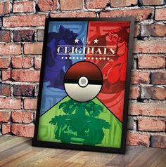 Pokemon Originals V3 Art Deco influenced by GeekOnFire on Etsy