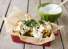 Jack's Urban Fries (blue cheese dressing, hot chili oil, red pepper flakes and parsley)