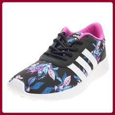 adidas Damen Lite Racer W Sneaker Low Hals, Schwarz (Negbas/Ftwbla/Rosimp), 36 EU - Sneakers für frauen (*Partner-Link)