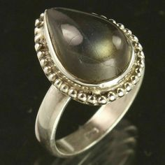 Handmade Jewelry Ring Size US 7 Natural LABRADORITE Gemstone 925 Sterling Silver #Unbranded