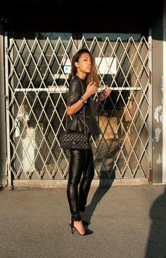 Peplum + Leather = A match made in heaven. Style inspiration via thehautepursuit.com #fallfashiontrends