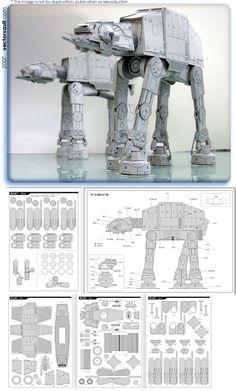 papercraft at-at Mi tarea Para fin de semana - Star Wars Models - Ideas of Star Wars Models - papercraft at-at Mi tarea Para fin de semana 3d Paper, Origami Paper, Paper Toys, Paper Cards, Star Wars Origami, Kirigami, 3d Laser Printer, Star Wars Crafts, Star Wars Models