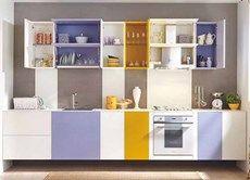 Colorful Kitchen Cabinets purple blue small kitchen design ideas | home decor ideas