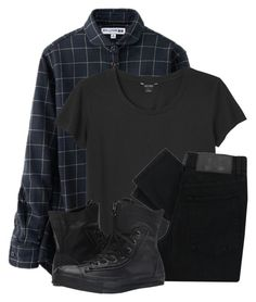 """Simmer down, simmer down"" by finneganxx ❤ liked on Polyvore featuring Uniqlo, Monki, Cheap Monday and Converse"