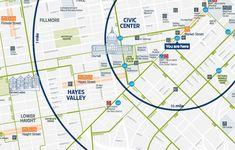 Yellowfields // Cartographic Design ⁄ Bay Area Bike Share, San Francisco