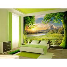 Greenery wurde zur Farbe des kommenden Jahres 2017 gewählt - lernen Sie eine Fototapete in dieser Farbe kennen #fototapete #fototapeten  #wanddekoration #wanddeko #homedecor #home #grün #greenery #artgeist