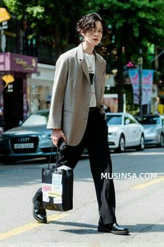 Asian Fashion, Look Fashion, Girl Fashion, Mens Fashion, Fashion Outfits, Korean Fashion Men, Look Cool, Cool Style, My Style