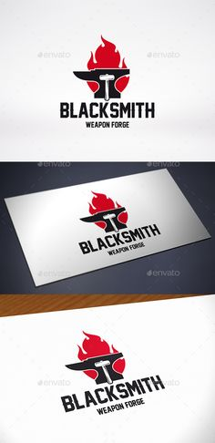 Anvil Fire Logo Template — Vector EPS #furnace #blacksmith logo • Available here → https://graphicriver.net/item/anvil-fire-logo-template/11774894?ref=pxcr