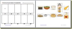 sequencing of There was an Old Lady who Swallowed a pie and many other printables with the story