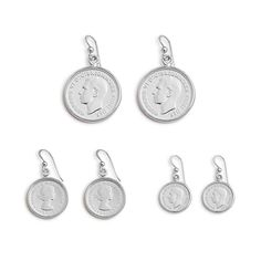 Von Treskow Silver coin earrings