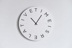Moods-Wall-Clock-quotTime-is-Relativequot