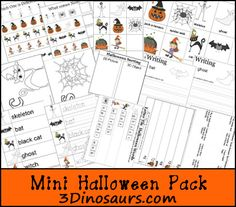 Free Mini Halloween Pack that can be used with the Safari Ltd Toob Glow in Dark Halloween. - 3Dinosaurs.com