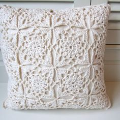 Lacy Cream Hand Made Cushion Cover