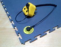 ESD Erdungs Kit für elektrisch ableitende PVC-Fliesen in der Industrie