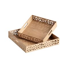 Laser Cut Wooden Trays