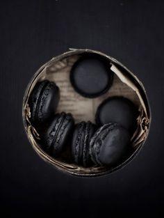 black macaroons