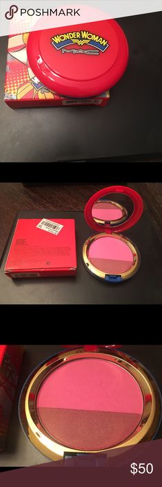 MAC Blush Duo ***AUTHENTIC*** MAC Limited Edition Wonder Woman Blush Duo. This product has never been used. NO RETURNS ON MAKEUP (for sanitary reasons).      ***Bundle deal available*** MAC Cosmetics Makeup Blush