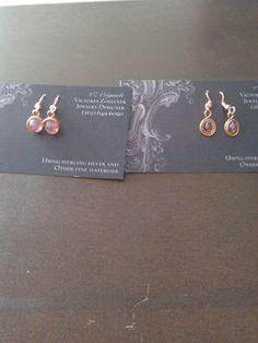 Pretty copper earrings.