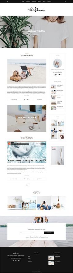 Creative WordPress Themes from ThemeForest Website Design Layout, Blog Layout, Website Designs, Fashion Website Design, Fashion Blog Names, Blog Websites, Blog Design Inspiration, Web Design Trends, Website Ideas