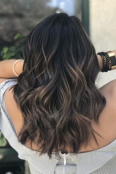 Dark Balayage | Cool and earthy, this shade is surprisingly refreshing for spring and summer. When sunny and warm summer days are finally on the horizon, most Southern ladies are ready to freshen up their look with a new cut or color in anticipation. While your first instinct might be to match the weather with warm tones like gold, honey, caramel, and chestnut, we argue that the best approach to the changing season is the new cool-toned hair color trend taking over: mushroom brown hair.
