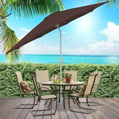 Best Choice Products Patio Umbrella 9 Aluminum Patio Market Umbrella Tilt W/ Crank Outdoor ** You can get more details by clicking on the image. (This is an affiliate link) Best Patio Umbrella, Large Patio Umbrellas, Outdoor Umbrella, Offset Umbrella, Garden Parasols, Thing 1, Aluminum Patio, Market Umbrella, Outdoor Areas