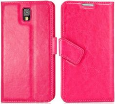 myLife Bright Rose Pink {Smooth Texture and Slanted Tab Design} Faux Leather (Card, Cash and ID Holder + Magnetic Closing) Slim Wallet for G...