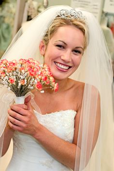 wedding hairstyle with tiara and veil - Google Search