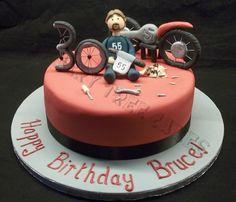 Building a Motorbike cake Dad Birthday Cakes, Birthday Fun, Harley Davidson Cake, Motorcycle Cake, Dad Cake, Retirement Cakes, Tree Cakes, Funny Cake, Cake Making