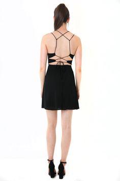 6ef727fdef2 ↞Apricot Lane Centennial↠  Strappy Black Dress  Black dress featuring small  cut-
