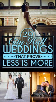 29 City Hall Weddings That Prove Less Is More Amanda Thomsen Photography Civil Wedding, Elope Wedding, Wedding Pics, Dream Wedding, Wedding Ideas, Wedding Sparklers, Wedding Things, Wedding Band, Wedding Stuff