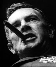 "Sterling Hayden in ""Dr. Strangelove"" http://cigarettesmokingblog.blogspot.com/2011/11/sterling-hayden-from-sea-captain-to.html"