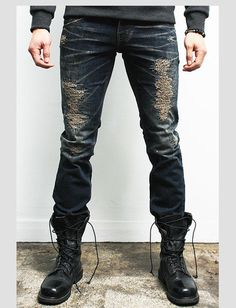 "Men's ""Altitude"" Skinny Distressed Jeans – Tattee Boy Clothes"