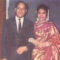 #Vyjayanthimala with husband Dr. Chamanlal Bali.