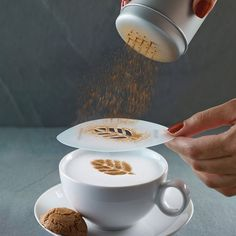 Aerolatte Cappuccino Art Stencils – Latte Art Mug – How to use Aerolatte? Aerolatte Cappuccino Art Stencils lets you turn any cup of coffee into a work of Cappuccino Art, Cappuccino Machine, Coffee Latte, Best Coffee, Joe Coffee, Coffee Drinks, Coffee Cups, Coffee Menu, Coffee Poster