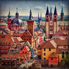 Spires of Wurzburg, Germany
