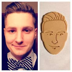 Picture to Cookie Cutter Custom Face Cookie or Fondant by BoeTech