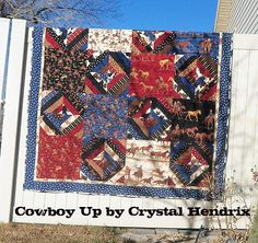 For my daughter. I've been gathering cowboy & bandana flannels for many years; finally a pattern that will accomodate my stash!