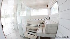 Saunologian opas Asuntomessujen saunoihin #asuntomessut #saunat #2017 #saunaopas Steam Bath, Steam Room, Finnish Sauna, Sauna Room, Dressing Room, Bathtub, Contemporary, Design