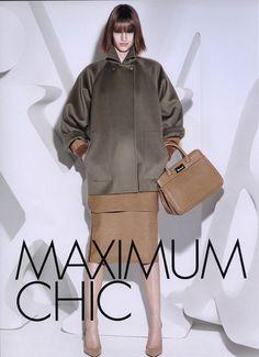 Ashleigh Good in Max Mara's fall 2013 campaign