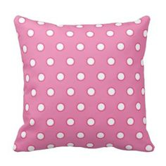 Pink Polka Dot Throw Pillows | Pretty Throw Pillows #pink #polkadot #pillow #throwpillow