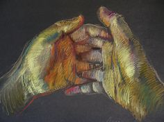 Sometimes, even the simplest things can be great art.  The surprisingly challening hands, in my favorite medium:  pastel. pastel #Art #Sanat
