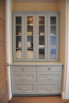 Built-in in hallway, rather than linen closet by tommie
