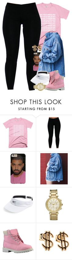 """Untitled #1427"" by power-beauty ❤ liked on Polyvore featuring NIKE, Michael Kors and Timberland"