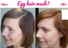 Egg hair wash – a cracking alternative to shampoo - before and after picture - Cosmopolitan.co.uk  - Cosmopolitan.co.uk