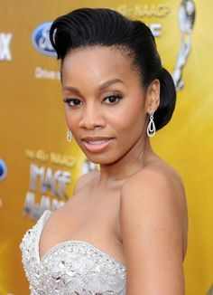Prom Hairstyles for Black Hair: Anika Noni Rose