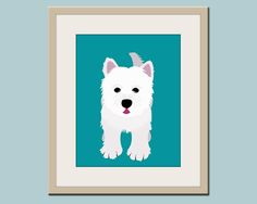 Dog prints.... So cute for a child's bedroom!