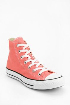 Shop Converse Chuck Taylor All Star High Top Sneaker at Urban Outfitters today. Pink High Top Converse, Pink High Tops, Pink Vans, High Top Vans, Converse Chuck Taylor All Star, Chuck Taylor Sneakers, High Top Sneakers, Converse Sneakers, Types Of Shoes