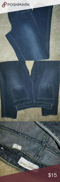 "ColdWater creek Denim dark wash skinny jeans EXCELLENT CONDITION! No visible signs of wear. They are Coldwater Creek ""city fit"" There is pretty much no strech in then. They are nice thick well made jeans. Mid rise skinny jeans! Coldwater Creek Jeans Skinny"